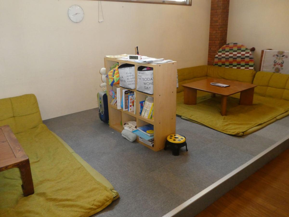 仕切られたキッズルームは安心空間に
